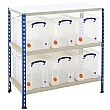 BiG340 Shelving Bay With 6 x 24 Litre Really Usefu
