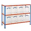 BiG340 Shelving Bay With 8 x 24 Litre Really Usefu