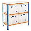 BiG340 Shelving Bay With 4 x 35 Litre Really Usefu