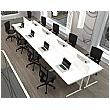 NEXT DAY Vogue White Rectangular Cantilever Desks With Double Fixed Pedestals