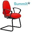Summit Tiverton Medium Back Cantilever Visitor Chair