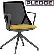 Pledge Cicero Medium Back Black Conference Chair