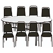 5ft Round Soft Top Table & 8 Mayfair Chairs