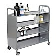 Gratnells Callero Plus 4 Shelf Flat Trolley