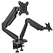 NEXT DAY Karbon G2 Black Dual Monitor Arms