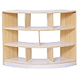Alps Open Back 3 Shelf Curved Classroom Bookcase