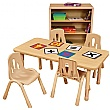 Rectangular Height Adjustable Classroom Tables