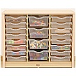 Elegant Classroom Tray Storage Unit
