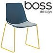 Boss Design Ola Skid Base Polypropylene Chair With Upholstered Seat