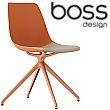 Boss Design Ola Spider Base Polypropylene Chair With Upholstered Seat