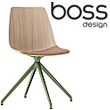 Boss Design Ola Spider Base Wooden Chair With Upholstered Seat