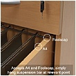 NEXT DAY Karbon K1 Ergonomic Cantilever Office Desks With Tall Under Desk Pedestal