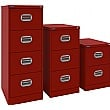 Silverline Kontrax Filing Cabinets Red
