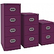 Silverline Kontrax Filing Cabinets Traffic Purple