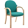Lincoln Wooden Frame Fabric Stacking Chair With Arms