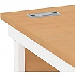 NEXT DAY Solar Rectangular Cantilever Desks With Single Fixed Pedestal