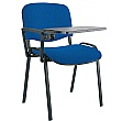 Swift Black Frame Conference Chairs With Plastic Writing Tablet (4 Pack)