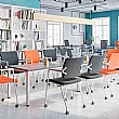 BN Easy Space Rectangular Conference Tables - Square Legs