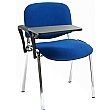 Swift Chrome Frame Conference Chairs With Plastic Writing Tablet (4 Pack)