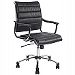 Black Lisbon Leather Look Manager Chair