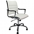 White Leather Manager Chair