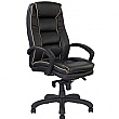 Rome Leather Manager Chair Black