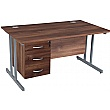 NEXT DAY Karbon K3 Rectangular Deluxe Cantilever Desk With Single Fixed