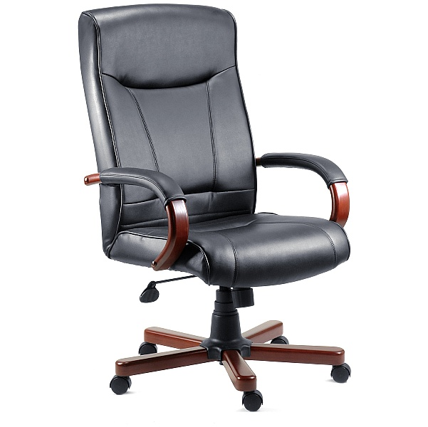 Kingston Mahogany Leather Manager Chair