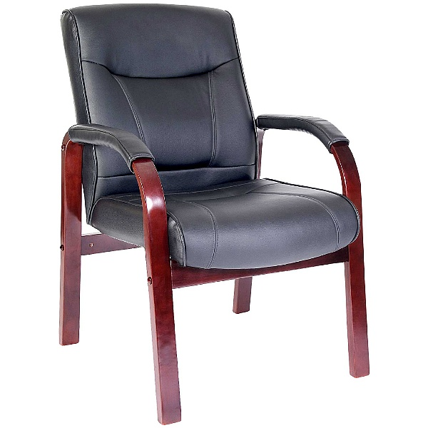 Kingston Mahogany Leather Visitor Chair
