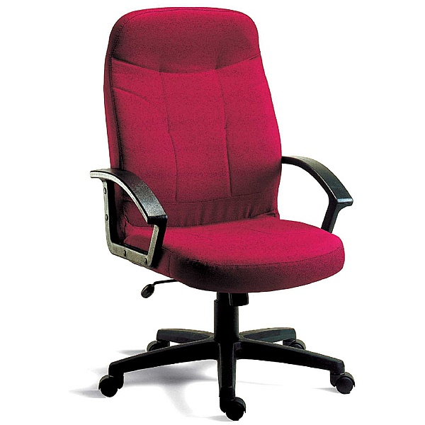 Mayfair Fabric Manager Chair Burgundy