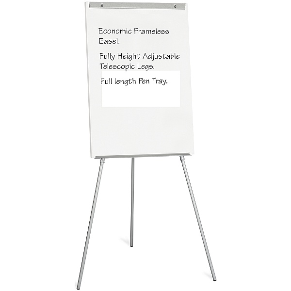 A1  Frameless Economic Drywipe Flipchart Easel