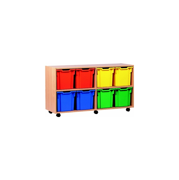 8 Tray Jumbo Mobile Storage