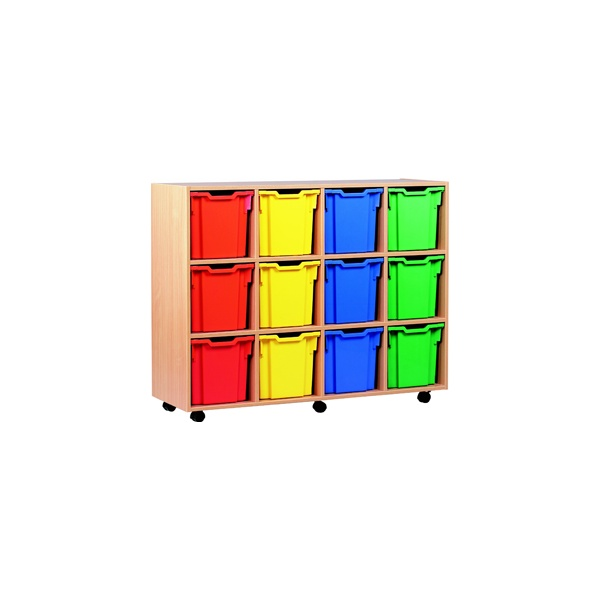 12 Tray Jumbo Mobile Storage