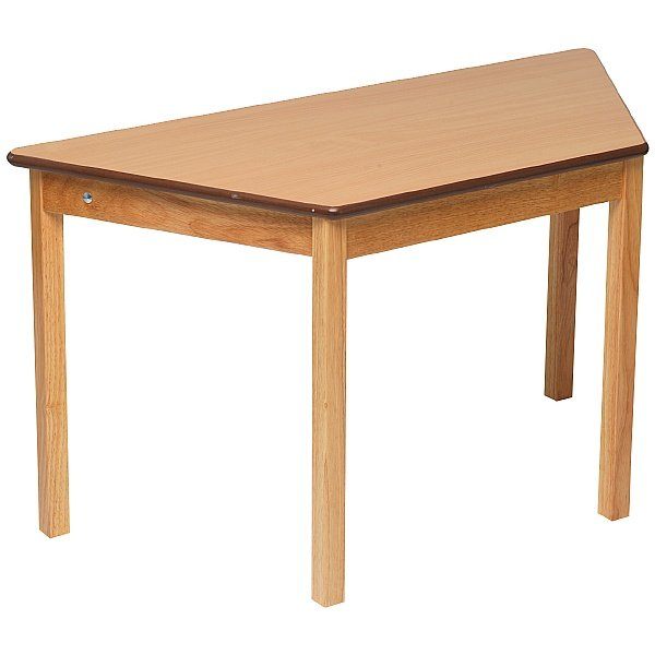 Trapezoidal Classroom Grouping Table Beech