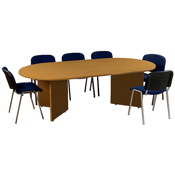 Bundle Deal D-End Boardroom Table & 6x Tamar Chair