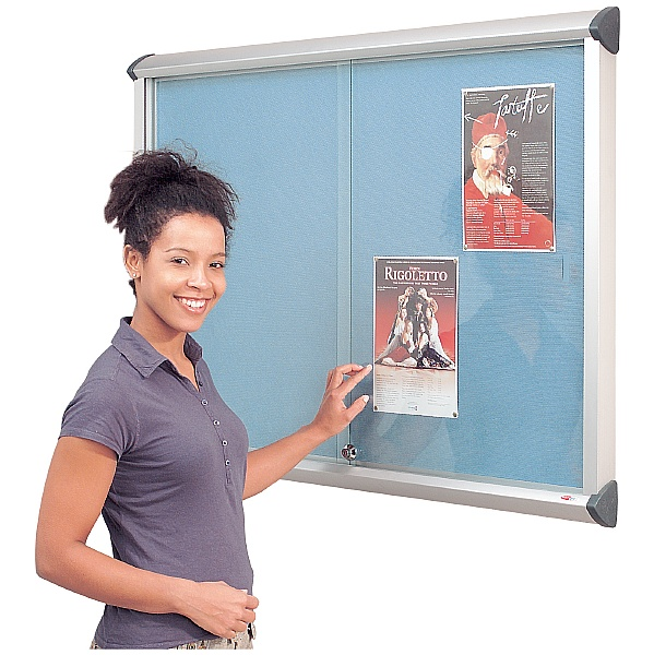 Resist-a-Flame Aluminium Framed Sliding Door Shield Showcase
