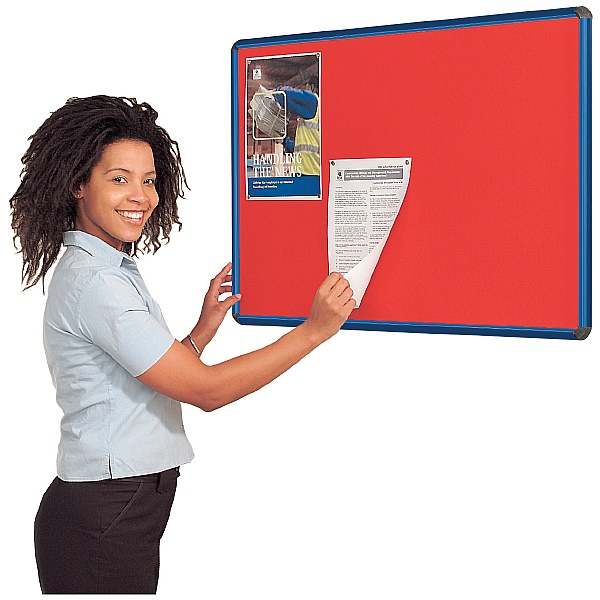 Coloured Frame Shield Noticeboards