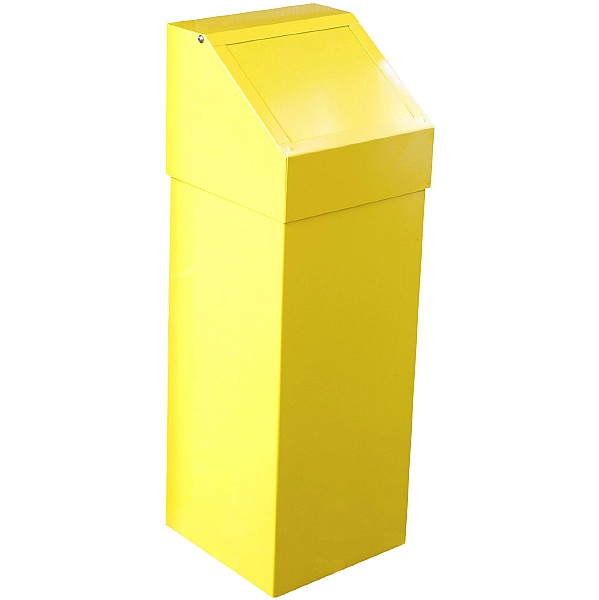 Fire Retardant Push Flap Litter Bin