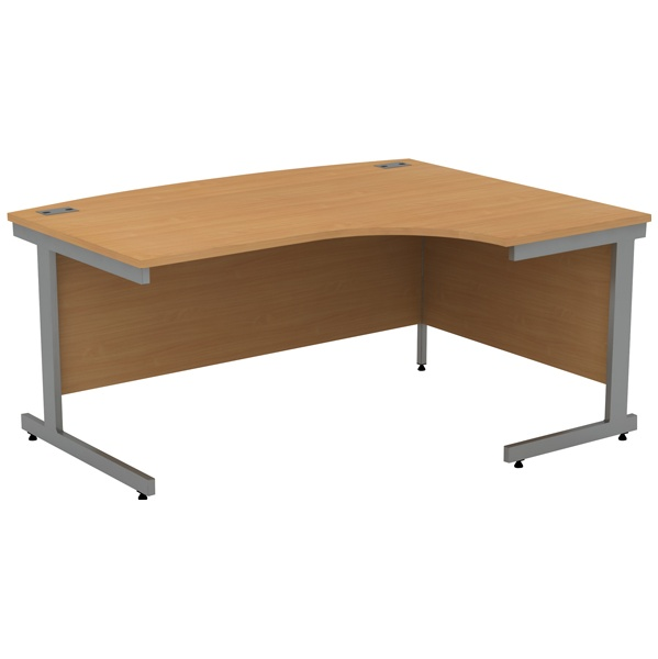 Alpha Plus Bow Front Ergonomic Desk