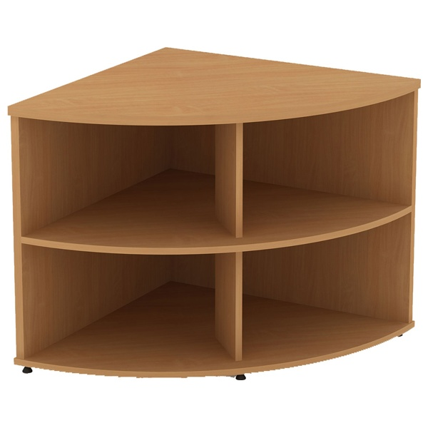 Alpha Plus Corner Storage Bookcase