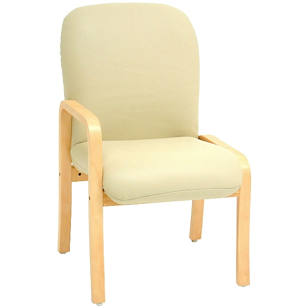 Alderley Sierra Vinyl Reception Chairs With Right Arm