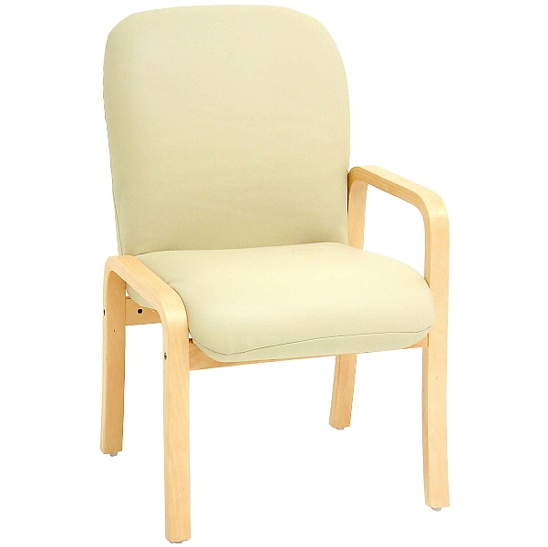 Alderley Sierra Vinyl Reception Chairs With Left Arm