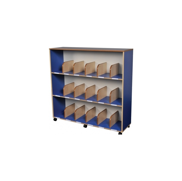 Childrens Bookcase With Drywipe Board Blue