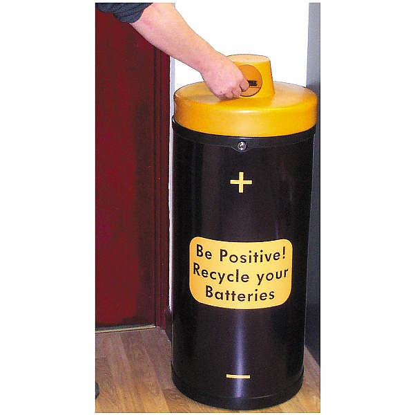 Battery Recycling Bin 'Be Positive'