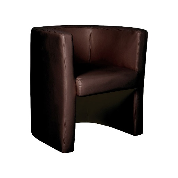 Layla Leather Faced Tub Chair Brown