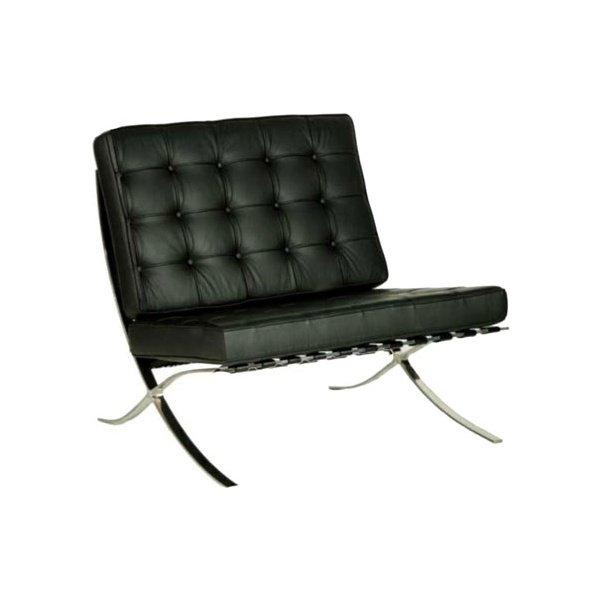 Caspian Leather Faced Reception Chair