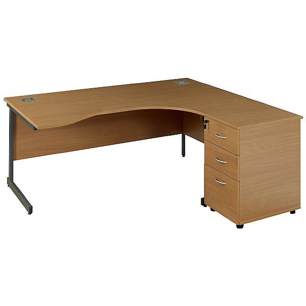 Solar Ergonomic Cantilever Desks, Desk High Ped