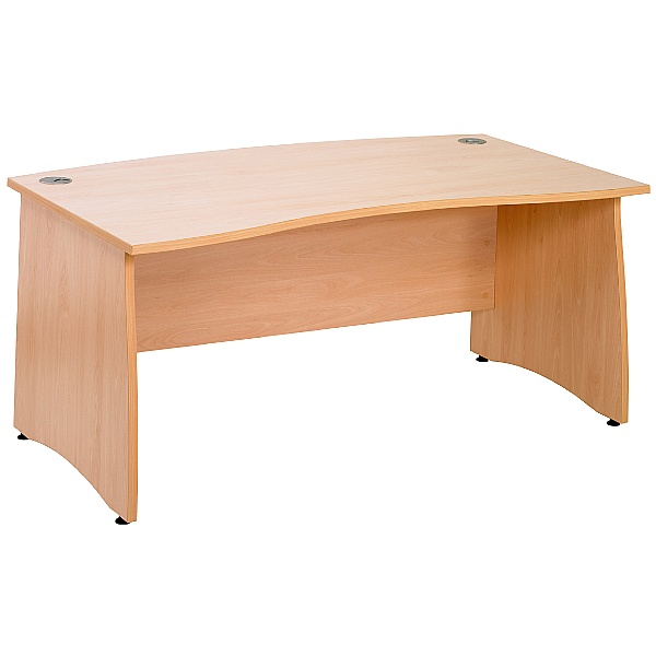 Contract Panel End Double Wave Bow Desk