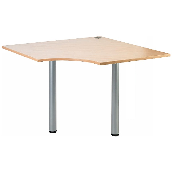 Gravity Quad Meeting Table Round Legs