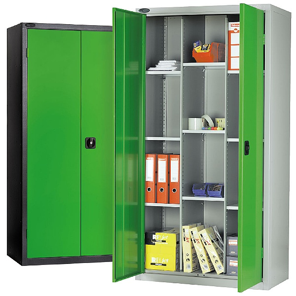 12 Compartment Commercial Cupboards Black Carcass